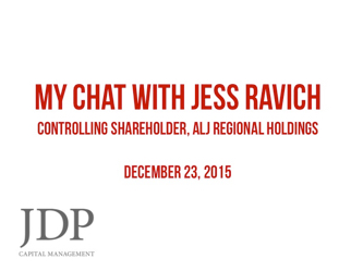 JDP Interviews Jess Ravich, Chairman of ALJ
