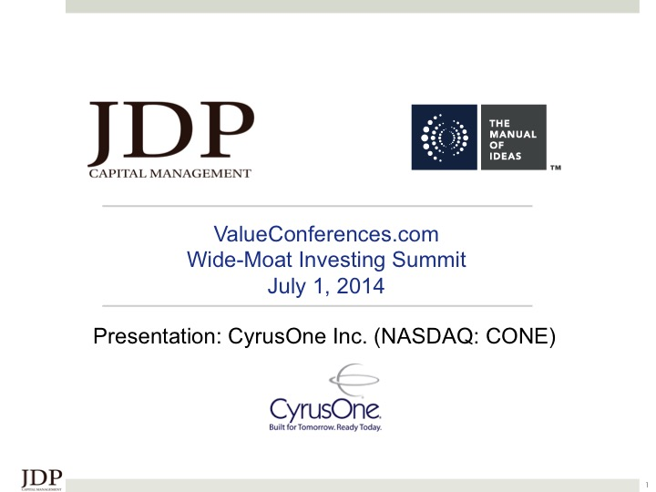 Wide Moat Investing Summit 2014